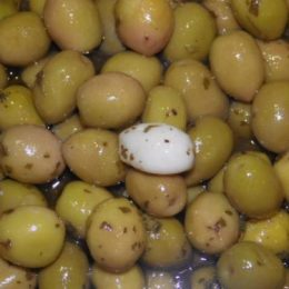 olives à l'ail 250g