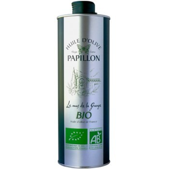 huile olive papillon