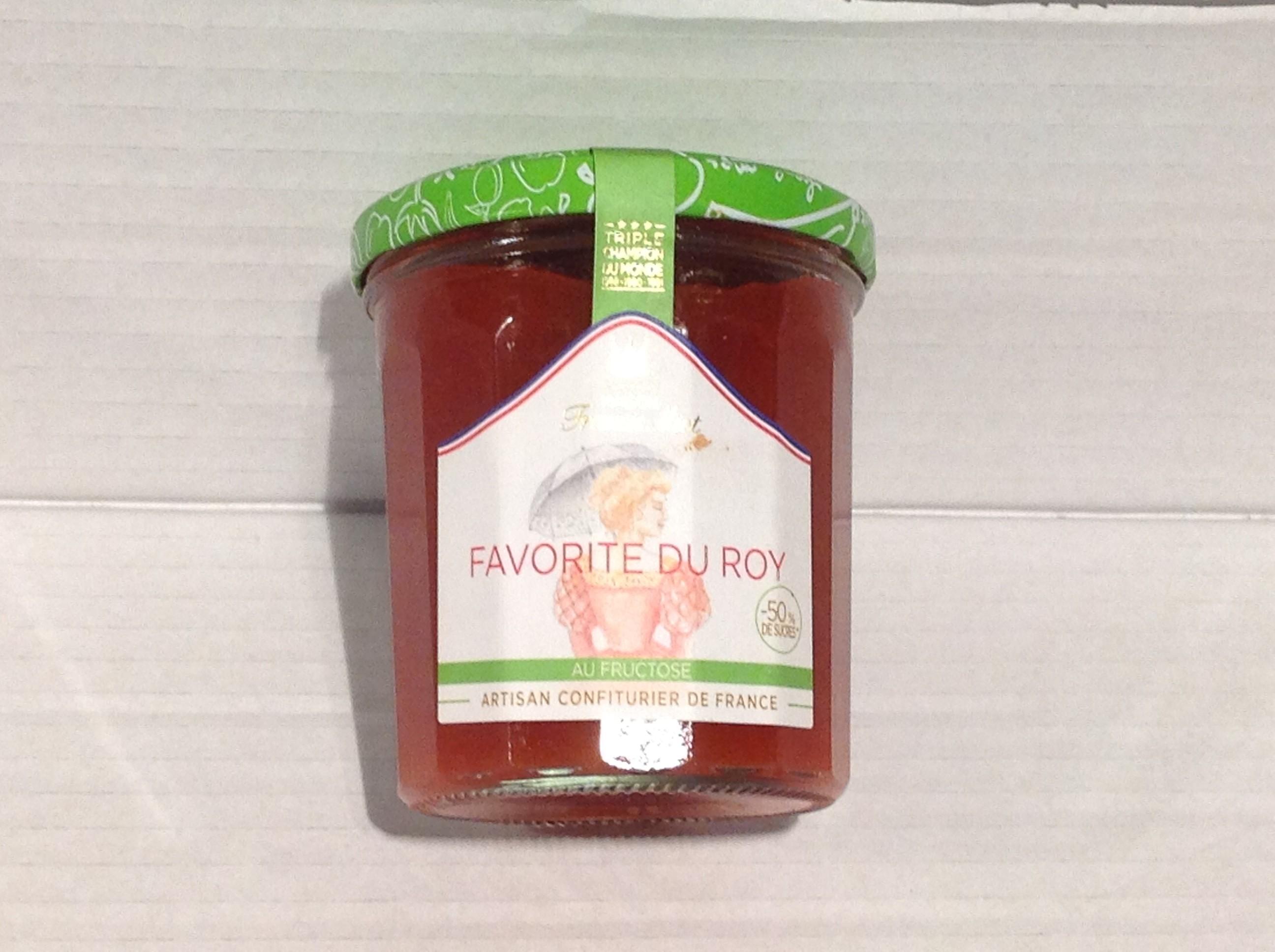 confiture allégée sucre favorite roy(abricot,peche,framboise)
