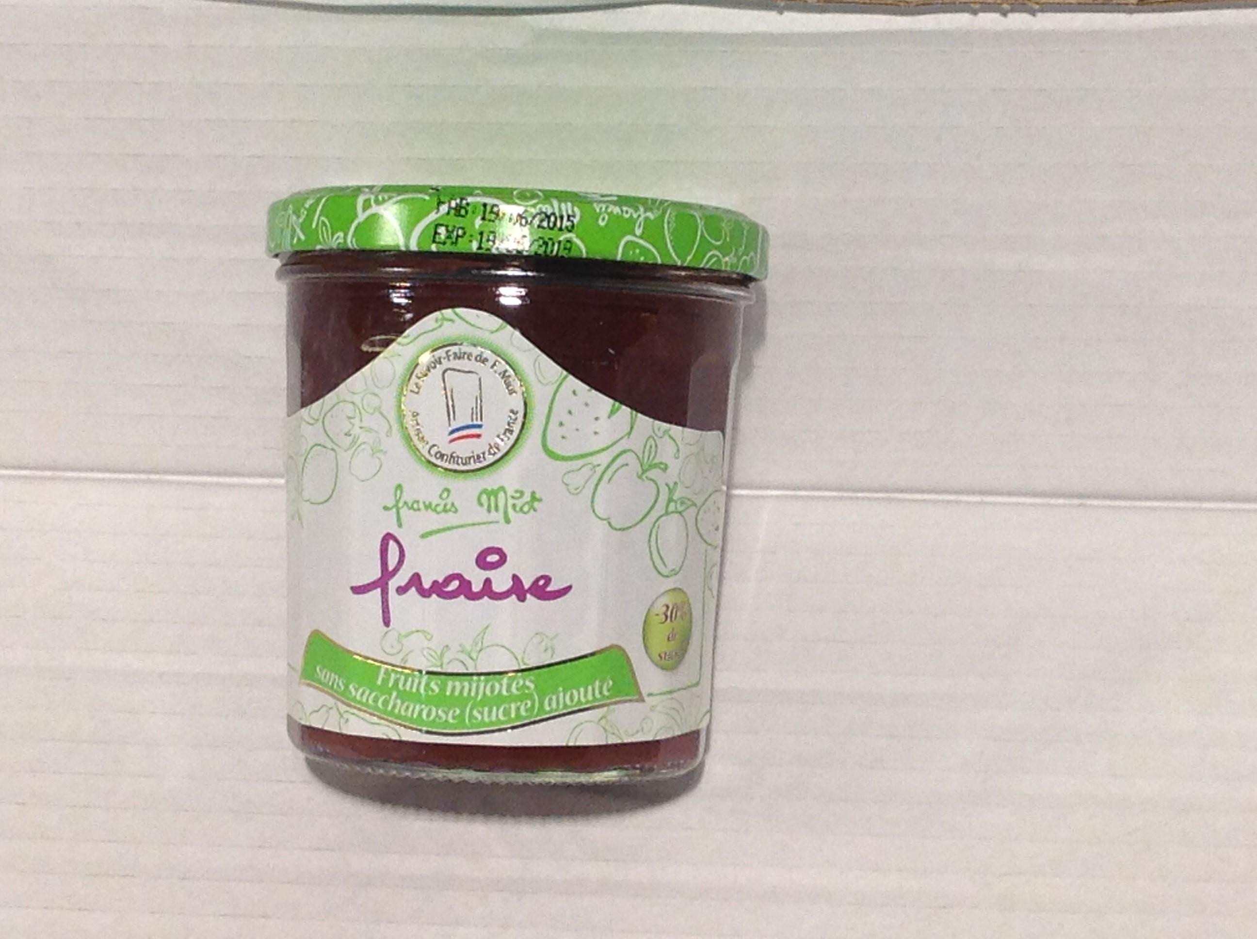 confiture allégée sucre fraise